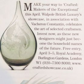Honoured to be exhibiting at Walpole British Luxury's Crafted exhibition April 3 - 5, drop by to see us! #walpole #britishluxury #countrylife